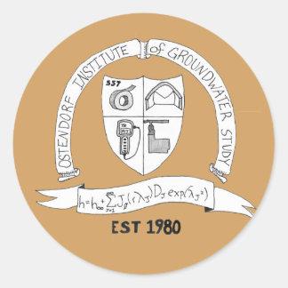 Pegatinas del instituto de Ostendorf Pegatina Redonda