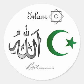 Pegatinas del Islam Pegatina Redonda