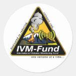 ¡Pegatinas del IVM-Fondo! Etiqueta Redonda