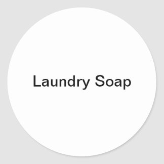 Pegatinas del jabón de lavadero pegatina redonda