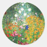 Pegatinas del jardín de flores de Gustavo Klimt