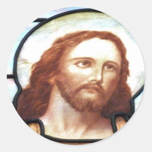 Pegatinas del Jesucristo del vitral