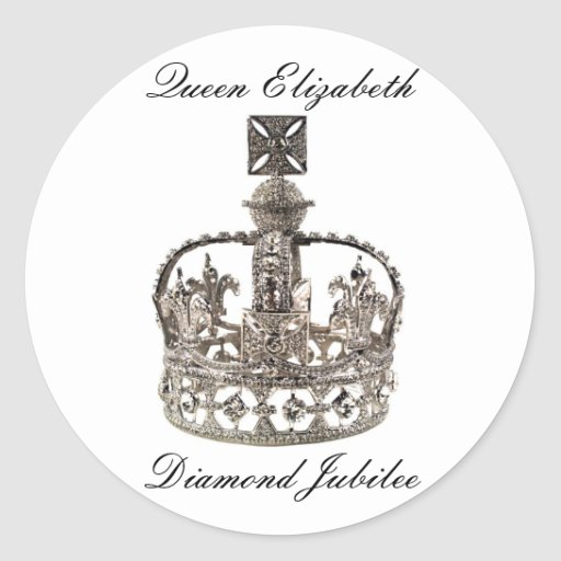 Pegatinas del jubileo de diamante de la reina pegatina redonda