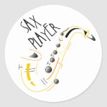 Pegatinas del jugador de saxofón