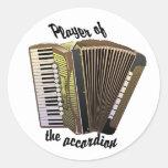 Pegatinas del jugador del acordeón