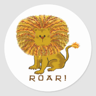Pegatinas del león pegatinas redondas