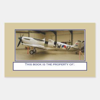 Pegatinas del letrero del libro del aeroplano del pegatina rectangular