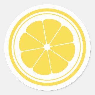 Pegatinas del limón del puesto de limonadas pegatina redonda