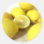 Pegatinas del limón pegatina redonda