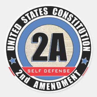 pegatinas del logotipo 2A