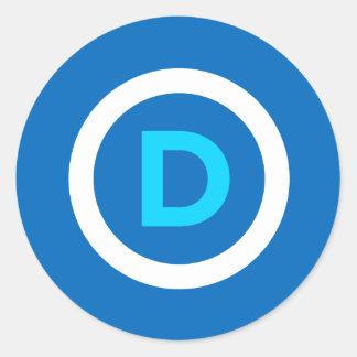 Pegatinas del logotipo de Demócrata