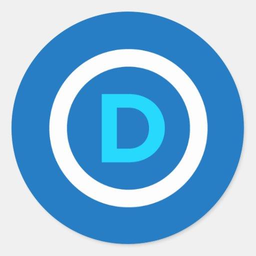 Pegatinas del logotipo de Demócrata Etiquetas Redondas