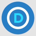 Pegatinas del logotipo de Demócrata Pegatina Redonda