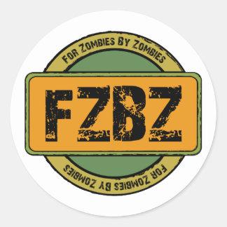 Pegatinas del logotipo de FZBZ… Etiqueta Redonda