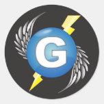 """Pegatinas del logotipo de """"G"""""""