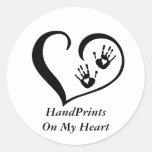 Pegatinas del logotipo de HandPrint Etiqueta Redonda
