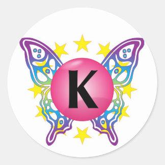 "Pegatinas del logotipo de ""K"" Pegatina Redonda"