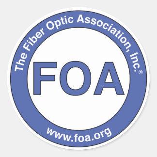 Pegatinas del logotipo de la FOA pequeños Pegatina Redonda