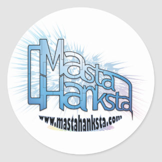 Pegatinas del logotipo de Masta Hanksta Pegatina Redonda