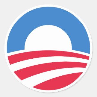 Pegatinas del logotipo de Obama Pegatina Redonda