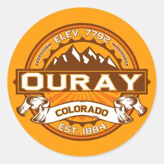 Pegatinas del logotipo de Ouray Pegatinas Redondas