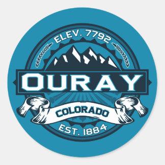 Pegatinas del logotipo de Ouray Pegatina Redonda
