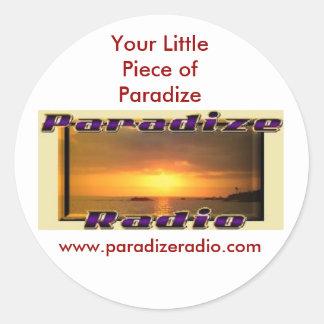 Pegatinas del logotipo de ParadizeRadio Pegatinas Redondas
