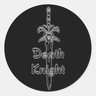 Pegatinas del logotipo del caballero de la muerte pegatina redonda