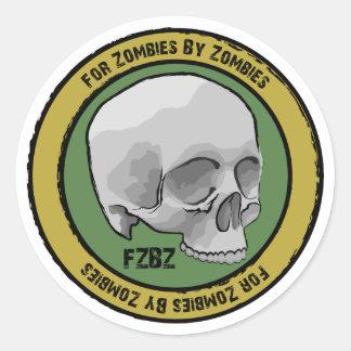 Pegatinas del logotipo del cráneo de FZBZ… Etiqueta Redonda