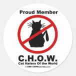 Pegatinas del logotipo del enemigo del gato