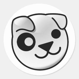 Pegatinas del logotipo del perrito pegatina redonda