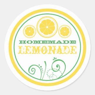 Pegatinas del logotipo del puesto de limonadas pegatina redonda