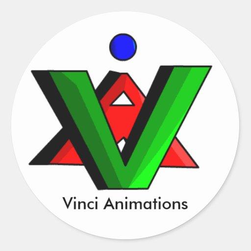 Pegatinas del logotipo del VA de las animaciones Pegatina Redonda