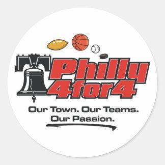 Pegatinas del logotipo pegatina redonda