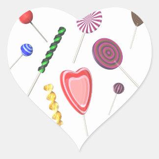 Pegatinas del Lollipop Pegatina De Corazón