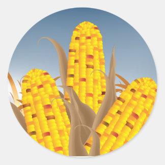 Pegatinas del maíz pegatina redonda
