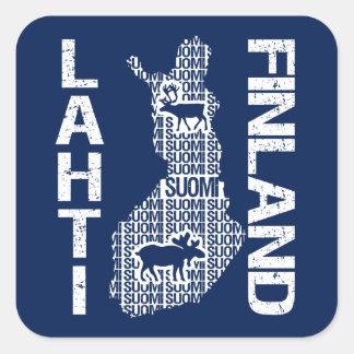 Pegatinas del MAPA de FINLANDIA - Lahti Calcomanía Cuadradas Personalizadas