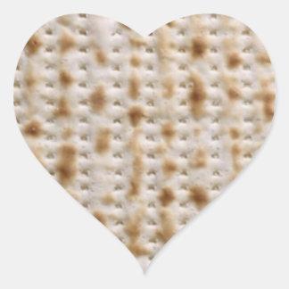 Pegatinas del Matzoh del Passover del corazón Pegatina En Forma De Corazón