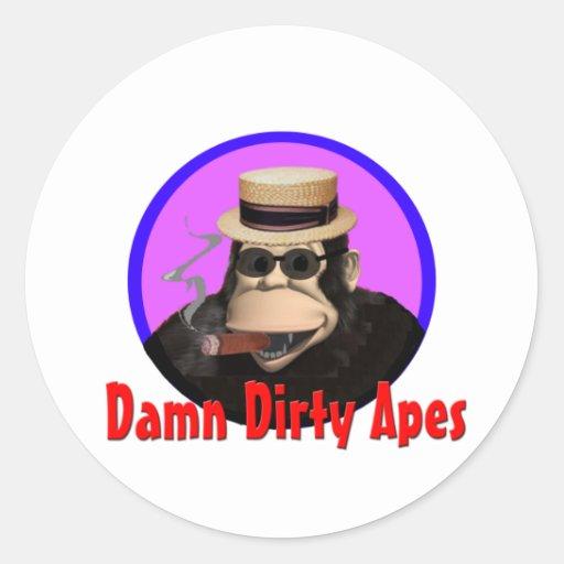 Pegatinas del mono