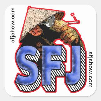Pegatinas del mono de SFJ Pegatina Cuadrada