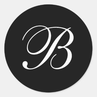 Pegatinas del monograma de B Pegatina Redonda