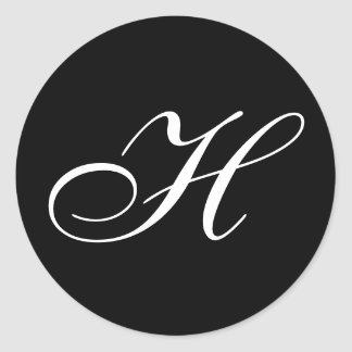 Pegatinas del monograma de H Pegatina Redonda