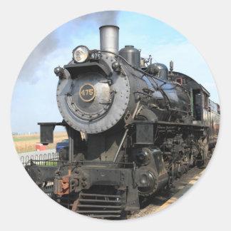 Pegatinas del motor de vapor de Strasburg Pegatina Redonda