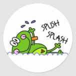 Pegatinas del muchacho de Froggie de la natación