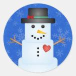 Pegatinas del muñeco de nieve