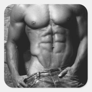 Pegatinas del músculo pegatina cuadrada
