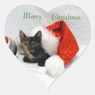 Pegatinas del navidad de Holley Pegatina Corazón Personalizadas