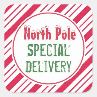 Pegatinas del navidad de la entrega especial de pegatina cuadrada