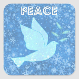 Pegatinas del navidad de la paloma de la paz