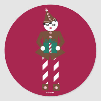 Pegatinas del navidad de Martzkin de la trufa de Pegatina Redonda